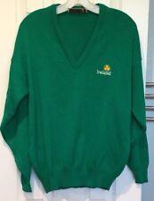 Irish Green Ireland Sweater Quills Woollen Market Mens 40 M Shamrock Embroidered