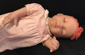 "Paradise galleries dolls vinyl Sleeping girl 19"" Weighted Soft Body Numbered GUC"