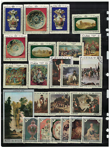 Caribbean Islands cu. PAINTING used 58st. + 3 Bl. 2 pages
