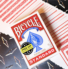 Bicycle Standard Red Poker Cards (New Box) Deck from Murphy's Magic