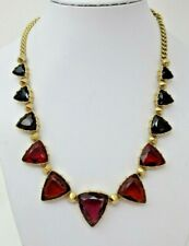f406060fc33 C Wonder NECKLACE Simulated Ruby Amethyst Sapphire Glass Cabochons Signed
