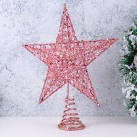 US Xmas Ornament Christmas Tree Topper Star Tree Home Party Decor