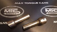 2 X MTC Exhausts Carbon Outlet DECIBEL KILLERS / BAFFLE Fits Left or Right hand
