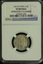 Buffalo Nickel. 1913 S Type 2  NGC VF Details.  Lot # 3720667-005