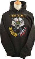 UNISEX BLACK HOODIE HOODY THE CLASH STRAIGHT TO HELL ARMY SKULL PUNK 1977 S-5XL