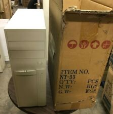 Vintage ATX AT Mid Tower Computer Case Build 386 486 Pentium PC DOS WIN NT33 new