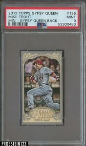 2012 Topps Gypsy Queen Mini Gypsy Queen Back #195 Mike Trout RC Rookie PSA 9