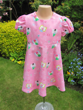 Neues AngebotMädchen kurzärmeliges Kleid, pink, Feen, Design, 3-4 Jahre, NEU, Handarbeit