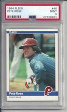 1984 Fleer Pete Rose #46 PSA 9 Mint Baseball Card.