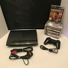 Sony Playstation 3 Super Slim 500GB Black Console (CECH-4003C) Bundle Games PS3
