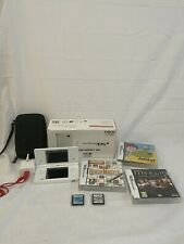 Nintendo DS Lite With Charger Games and Box And Case Fully Tested Working