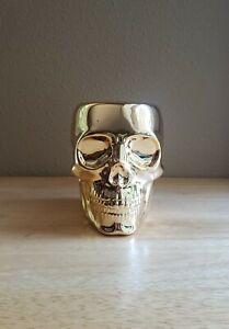 Bath and & Body Works 2021 Halloween Golden Skull Foaming Hand Soap Holder