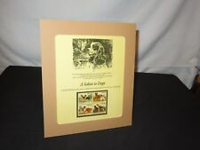 SALUTE TO DOGS ENGRAVING STAMP SET Stamps Postal Commemorative TERRIER COLLIE