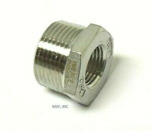 "3/4"" X 3/8"" 150# Cast Threaded (NPT) Hex Bushing 304 Stainless Steel <SS12050341"