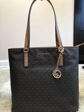 Michael Kors Morgan Signature Large Brown Tote Bag Handbag