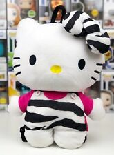 Sanrio Hello Kitty Plush Backpack Zebra Print Stuffed Toy Bag Collectible 2012