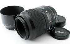 [Exe+5] Nikon AF Micro Nikkor 105mm f/2.8 Macro Prime Lens w/Hood from Japan Fdx