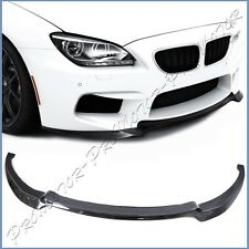 Front Extend Lower Spoiler Lip V Look Cabon Fiber For 14+ BMW F06 F12 M6 Bumper