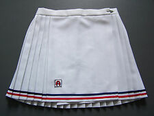 Ascot Tennis Sports Skirt Medium W28 in. White Retro Short Mini Vtg # ITAx444