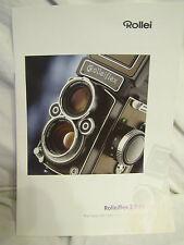 Broschüre Prospekt Werbeflyer Rollei Rolleiflex 2,8 FX Mittelformat Sammler rar