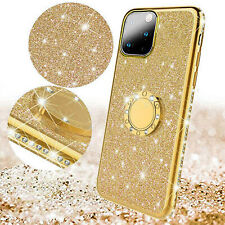 For iPhone 11 Pro Max Case 11 Pro Bling Magnetic TPU Shockproof Stand Ring Cover