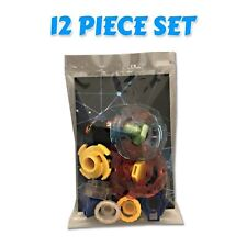 Beyblade 12 Piece Parts Set w/ Tips, Spin Tracks, Energy Rings, Tips, Face Bolts
