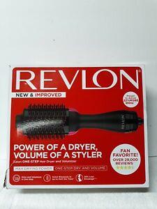 Revlon One-Step Hair Dryer And Volumizer Hot Air Brush Black Damage Box