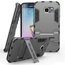 Hybrid Hard Case Rugged Grip Armor Cover Stand Shield For SAMSUNG GALAXY S6 EDGE