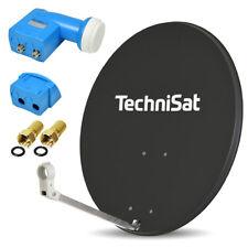 TechniSat Digitale SAT Anlage 80cm Spiegel Schüssel TWIN LNB 2 Teilnehmer dunkel