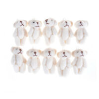 5Pcs 3.0cm Lovely Mini Joint Bear Plush Wedding Box Toy Doll Garment Deco WA