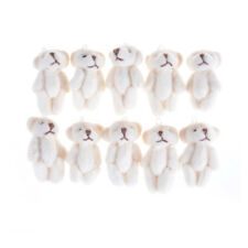5Pcs 3.0cm Lovely Mini Joint Bear Plush Wedding Box Toy Doll Garment Decor T Fp