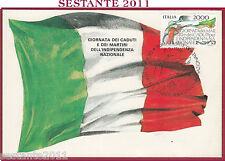 ITALIA MAXIMUM MAXI CARD ROMA 597 GIORNATA CADUTI INDIPENDENZA 1986 FILAT. B707