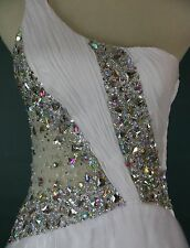 NWT MAC DUGGAL White Ball Gown $500 Evening Cruise Formal Dress Long Size 2 NEW