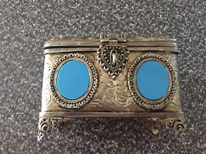 Vintage Metal Jewellery Box