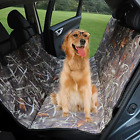 KIMHY Camo Dog Car Back Seat Cover for Pets, Waterproof Pet Seat Covers Hammock