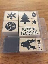 Lot de Tampons en bois, thème Noël,  pour déco, scrapbooking (stamp)