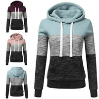 Women Long Sleeve Hooded Sweatshirt Sportswear Casual Tops Coat Blouse Pullover