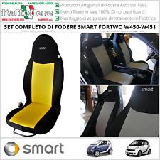 FODERE COPRISEDILI Smart Fortwo W450/W451 1998>2015 SU MISURA! Foderine Giallo
