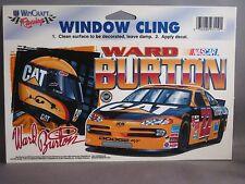"""WARD BURTON #22 CAT WINDOW CLING 4 1/2""""x 8 1/2"""" REUSABLE NEW WINCRAFT RACING"""
