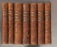 Lettres de Messire Roger Rabutin + réponses 7 vol. Marquise de Sévigné 1737