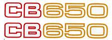 """""""CB650z"""" Décalques/Autocollants X 1 Paire à 155 mm x 23 mm (rouge/or)"""
