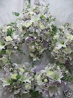 SILK WEDDING BRIDAL PACKAGE FLOWER BOUQUET  ~LILAC~