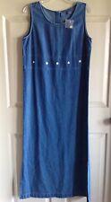 NWOT Mountain Lake Denim Jumper Sundress Blue Wash Long Modest Dress Size M
