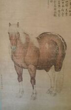 Excellent Chinese Scroll PAINTING of HORSE signed art by style LANG SHINING