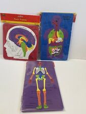 Human Body Foam Soft Puzzle Teacher Resource Medical Science Lot Of 3 Non Toxic