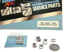 6pc 1977 Aurora AFX SpeedSteer Ultra5 WHEEL Axle SET Service Part #3805 Fit G+