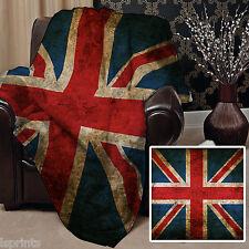 Grunge 2 Union Jack Design Doux Couverture polaire Housse Couverture L&S motifs