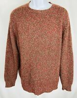 """Burberry's Vintage Size 42"""" Mens Sweater Crewneck Long Sleeve Maroon Cashmere"""