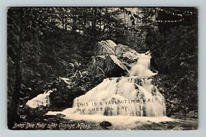 Orange MA-Massachusetts, Bear Den Water Falls, Vintage c1907 Postcard