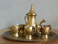 Vintage Brass Turkish Coffee Tea Espresso Set For 6
